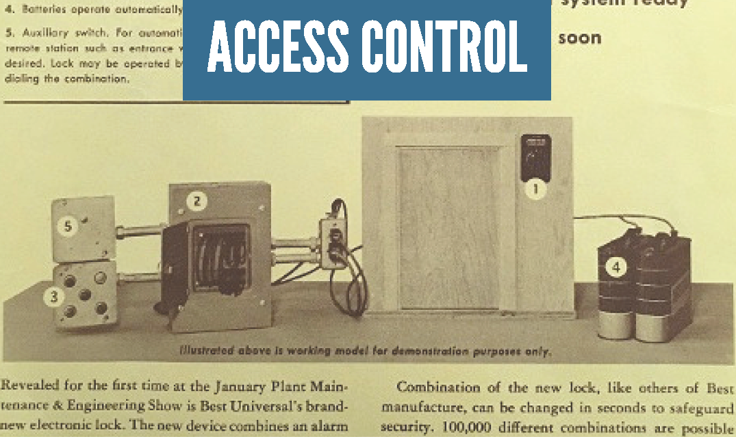 Access Control; A 65 year history